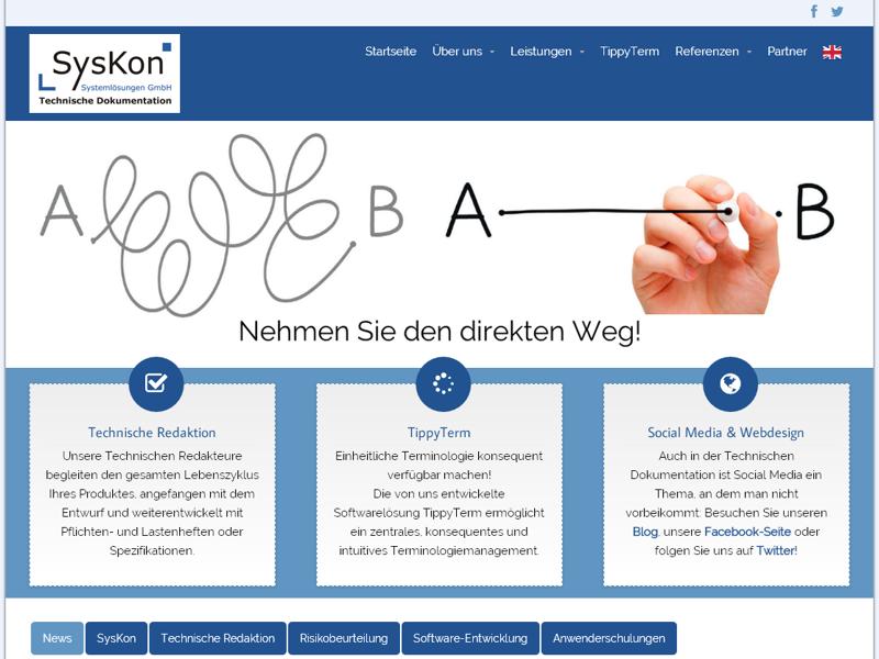 syskon homepage technische dokumentation